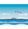 Airplane over Sea vector image vector image