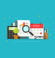analysis research sales report review with vector image