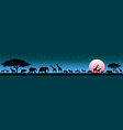 animals in wild savannah at sunrise vector image vector image