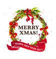artistic watercolor christmas and new year vector image vector image