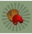 baseball leather glove hat