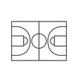 basketball field symbol vector image vector image