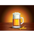 beer mug background vector image vector image