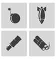 black bomb icons set vector image vector image