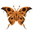 butterfly in steampunk style a mechanical insect vector image vector image
