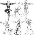 caucasusian dancers vector image