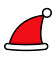christmas icon flat icons hat vector image