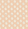 Cute seamless pattern with different facial vector image vector image