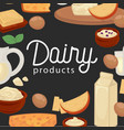 delicious natural fresh healthy dairy products vector image vector image