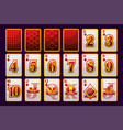 diamonds suit poker playing cards for poker and vector image vector image