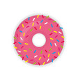 donut icon modern flat vector image