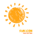 Drawing of sun symbol icon vector image