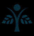 eco man collage icon of halftone spheres vector image vector image
