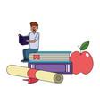 education man cartoon vector image