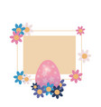 eggs happy easter vector image vector image
