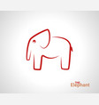 elephant logo creative linear animal logotype vector image