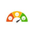 emoticons scale feedback request vector image vector image