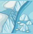 empty nature arctic antarctic ice river vector image