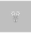 Flower computer symbol vector image vector image