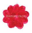 flower watercolor hand drawn texture vector image vector image