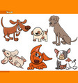 funny cartoon dog characters collection vector image vector image