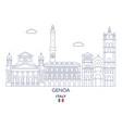 genoa city skyline vector image vector image