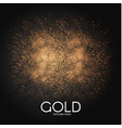 gold particles abstract magic dust on transparent vector image