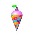 gradient plastic toy ice cream in bright cartoon vector image