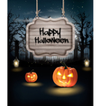 Halloween spooky background vector image