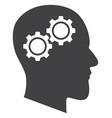 head gears flat icon symbol vector image