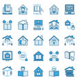 homeschooling icons home education blue vector image