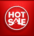 hot sale advertising banner photoreal round label vector image vector image