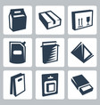 isolated package icons set 2 vector image