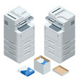 isometric multifunction office printer office vector image vector image