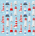 lighthouse seagulls and waves vector image vector image