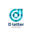 modern minimalistic letter concept logo vector image vector image