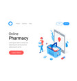 modern pharmacy and drugstore concept vector image vector image