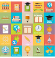 modern school flat design flyers templates vector image