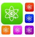 molecules of atom set collection vector image vector image