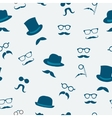 Mustache seamless pattern vector image vector image