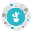 of gardening symbol on cactus vector image