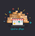 online shop online delivery service vector image vector image