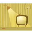 retro TV room vector image vector image