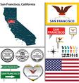 San Francisco California set vector image
