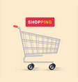 shopping logo cart design background image vector image vector image