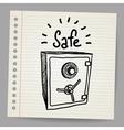 sketch a safe vector image vector image