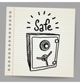 Sketch of a safe vector image vector image