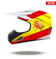 Spain Flag on Motorcycle Helmets vector image vector image