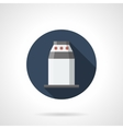 Station turnstile round flat icon vector image vector image