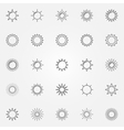 Sun line icons set vector image vector image